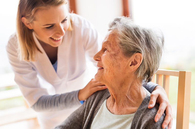 Lady in Aged Care facilities management