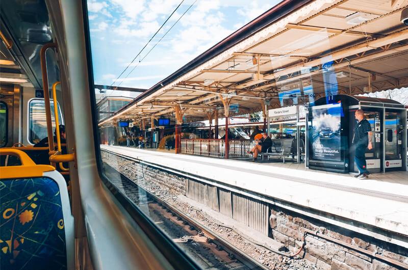 Train representing public transport facilities management